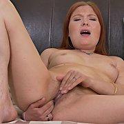 Redhead MILF Masturbates with Katrina B