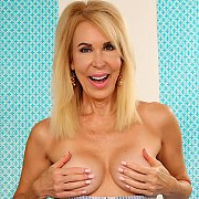 Mature Blonde Woman Displays Her Tits N Pussy with Erica Lauren
