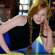 Braided Pigtails Redhead Teen In Arcade