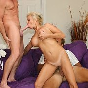 Blonde Wife In A Threesome