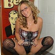 Busty Schoolgirl Exposing Herself
