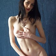 Skinny Teen Alea In Studio Shoot