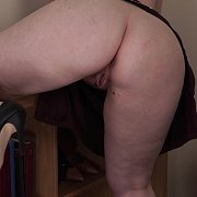 Pear Shaped Lady Gets Naked