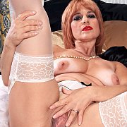 Mature Lady In White Stockings