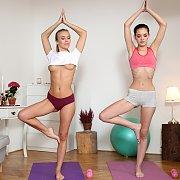 Young Lesbian Yoga Fun