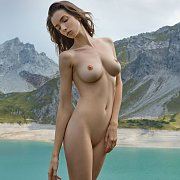 Sensual Nude By A Mountain Lake