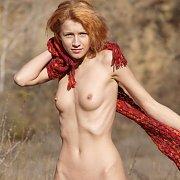 Hot Skinny Redhead Model In The Sun