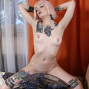 Tattooed Pale Erotica Blonde