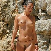 Wet Nude On The Beach