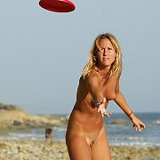 Naked Frisbee Toss