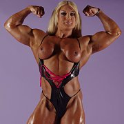 Muscular Blonde Flex And Strip