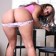 Lusty Bottom Brunette Coed Panty Teasing