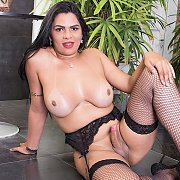 Sexy Tgirl Shows It All with Sabrina Sousa