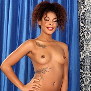 Ebony Slut Exhibits Her Dark Pussy N Tits with Zoey Reyes