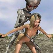 Alien Takes A Human