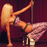 Blonde Works The Pole