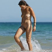 Frolicking Naked Amateur In The Water