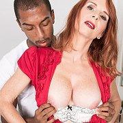 Pale Mature Redhead Interracial Sex