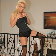 Blonde Wife In Glasses And Stockings