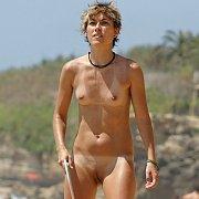 Naked Tan Lines Lady On Nudist Beach