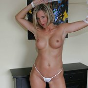 Pretty Blonde Milf In Tiny Panties