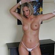 Pretty Blonde Milf In Tiny Panties