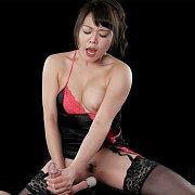 Lingerie And Stockings Asian Handjob