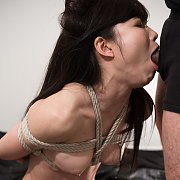 Rope Tied Asian Oral Fucking