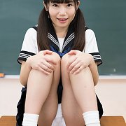Pigtails Petite Asian Schoolgirl Strips In Class