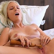 Puffy Nipples Blonde Teen Masturbates