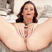 Masturbating Mom On The Bed