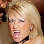 Blonde Woman Gets All Holes Filled In A Gangbang with Cathy Inez