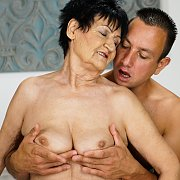 Granny Anastasia Eager To Fuck Younger Man