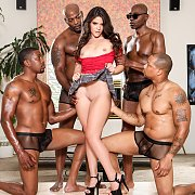 Victoria Voxxx Enjoying Multiple Big Black Cocks