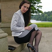 Stockings And Heels Wife Teases Outside