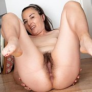 Milf On The Floor Showing Her Furry Pleasure