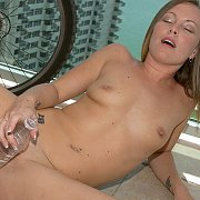 Masturbating On A Balcony
