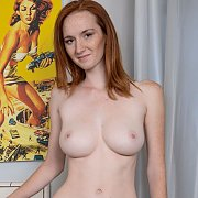 Nude Busty Freckle Face Redhead With Creamy Skin