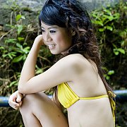 Erotic Asian Beauty Outside