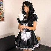 Raven Hair Maid Teasing