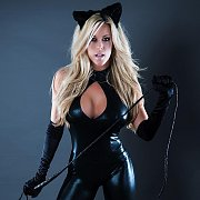 Catsuit Stripping Busty Blonde Babe