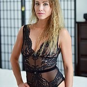 Naughty Milf In Teddy Lingerie Posing