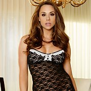 Chanel Preston Wearing Lace Black Lingerie