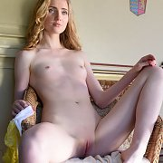 Pale Young Beauty At The Camper