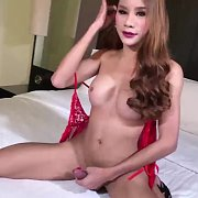Sexy Anny In Red with Ladyboy Anny