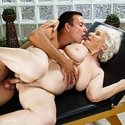 Horny Granny Norma Gets Massage From Young Dude