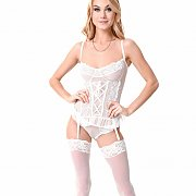 White Stockings And Teddy On Slim Nancy