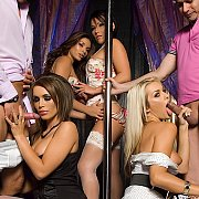 4 Horny Sluts Fucked In Strip Club with Gemma Massey, Krystal Webb, Nicole Lauren, Natasha Marley