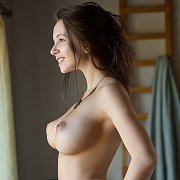 Busty Erotic Brunette Babe