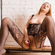 Masturbating In Her Bodystocking Lingerie